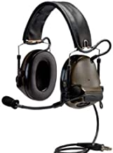 3M PELTOR ComTac ACH Communication Headset MT17H682FB-49 GN, Dual Comm, Single Downlead, Flexi Boom Mic, O.D. Green 1 EA/Case
