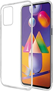 Amazon Brand - Solimo Mobile Cover for Samsung Galaxy M31s (Soft & Shockproof Back Case with inbuilt Cushioned Edges), Transparent