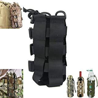 MOLLE Tactical Water Bottle Pouch, Adjustable Outdoor Sport Kettle Carrier Holder