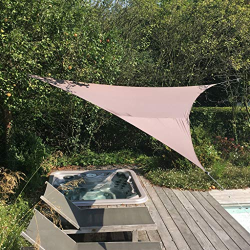 Alice's Garden - Voile d'ombrage Triangulaire Extensible EASYWIND 3,6 x 3,6 x 3,6m - Gris - Anti UV UPF 50+