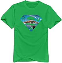 Male Michael Phelps Champion 100% Cotton T-Shirt Print