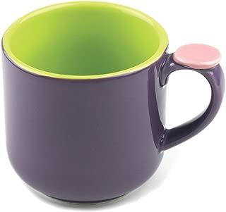 Omniware 1100467 Hemisphere Mug with Thumb Rest, Purple/Green
