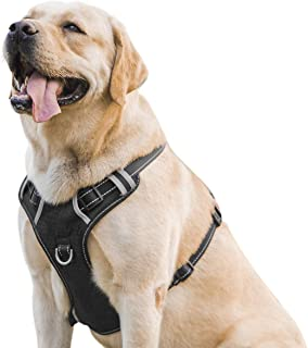 INVENHO Dog Harness Reflective Adjustable No Pull Pet Vest Oxford Vest for Dogs Easy Control for Small Medium Large Extra Dogs
