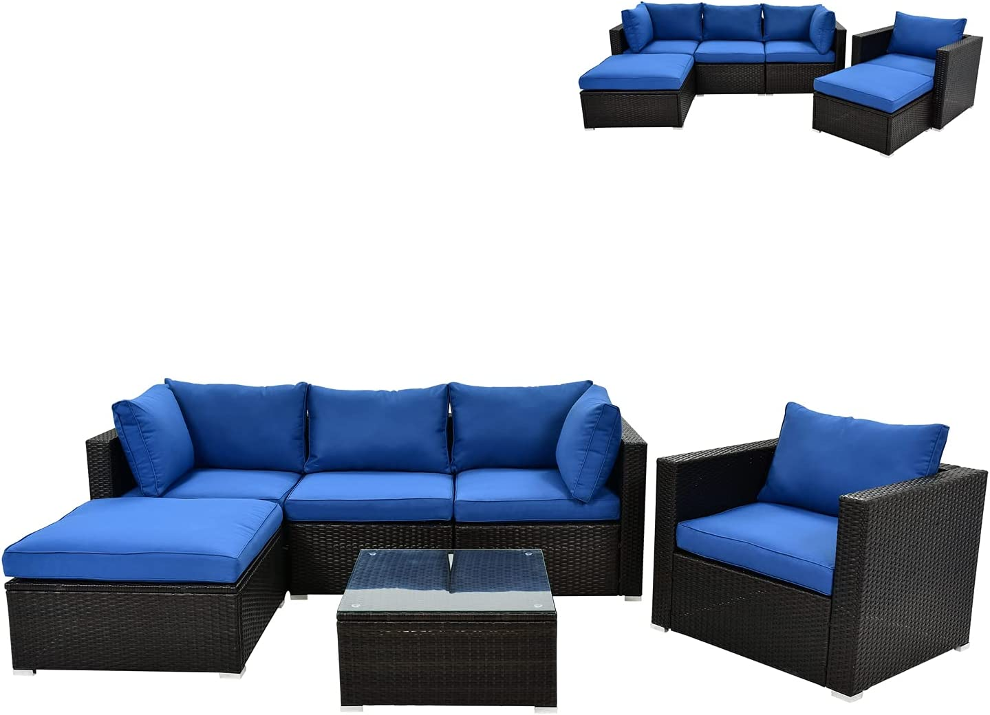 Daxue 6 sold out Pcs Patio Furniture Conversat Set Sofa Challenge the lowest price of Japan ☆ Sectional Outdoor