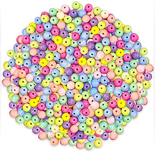 200 Pezzi Colorato Acrilico Perle Tondi 12mm/Perline Rotonde Artigianali Colori Misti di Plastica per Creazione di Gioielli Collana Braccialetti Bigiotteria Fai da Te Braccialetto per Bambini.