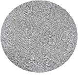 Round Vinyl Elastic Edged Flannel Backed Tablecloth Fitted Table Cover PVC Print Table Pad Home Decor (Gray, Round Tight Fits Table up 45