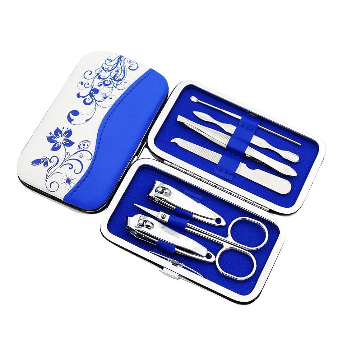 損失慎重に病爪切りセット ネイルケアセット マニキュアセット 7点セット 爪やすり 爪切り 眉クリップ 携帯便利 収納ケース付き ステンレス製