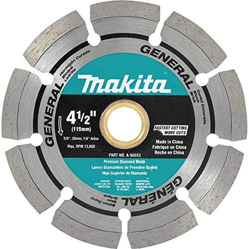 Makita A-94683 4-1/2-Inch Segmented Rim Diamond Masonry Blade