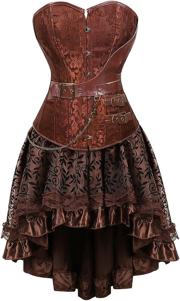 frawirshau Women's Steampunk Corset Ste Halloween Dallas Mall Dress Excellence Costumes