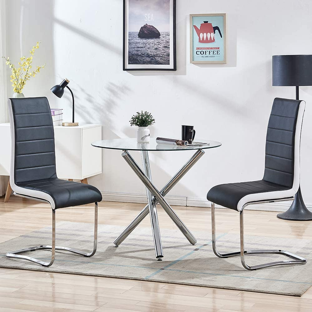 Buy SICOTAS 9 Piece Round Dining Table Set for 9 Person, Modern ...