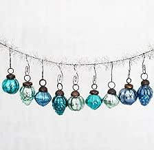 blue mercury glass christmas ornaments
