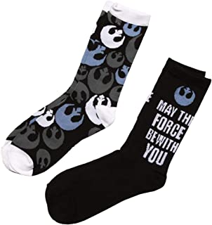Star Wars May the Force Be With You Rebel Alliance Logo 2-pack Adult Crew Socks