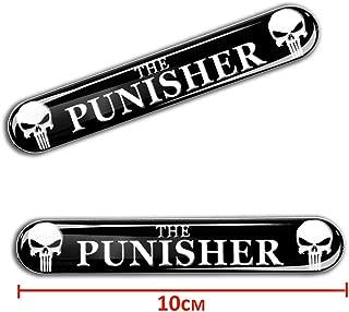 2 x 3D Gel Stickers Punisher Emblem Logo KS 109