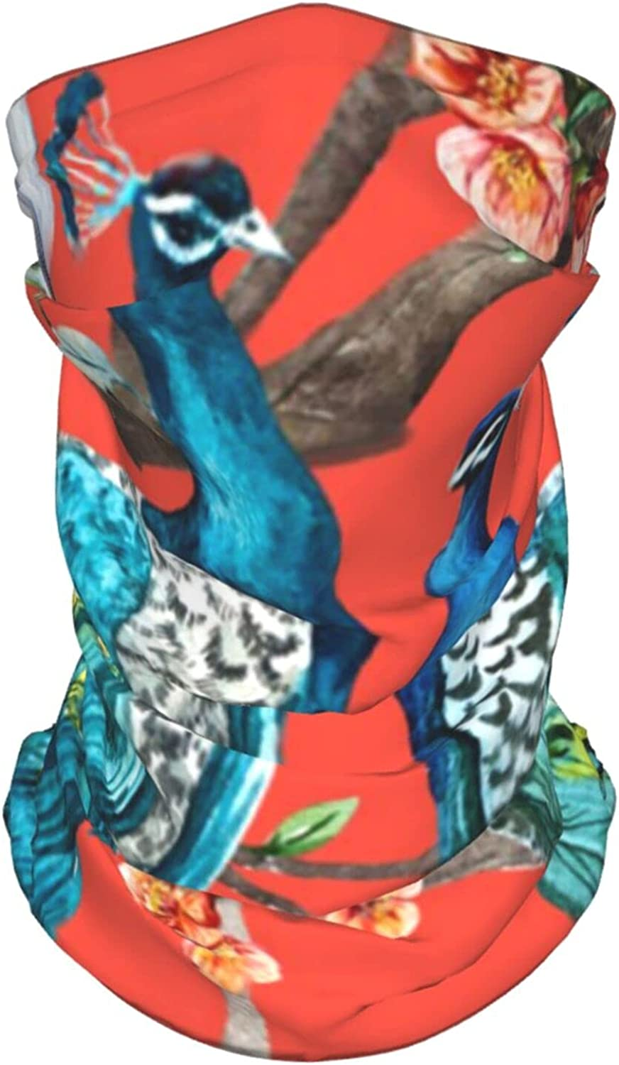 Peacock Lover Trees Neck Gaiter Multipurpose Headwear Ice Silk Mask Scarf Summer Cool Breathable Outdoor Sport 4 Pcs
