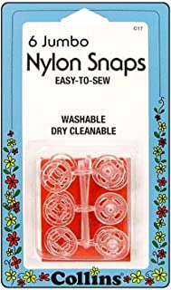 Dritz Clear Nylon Sew On Snaps 1/2