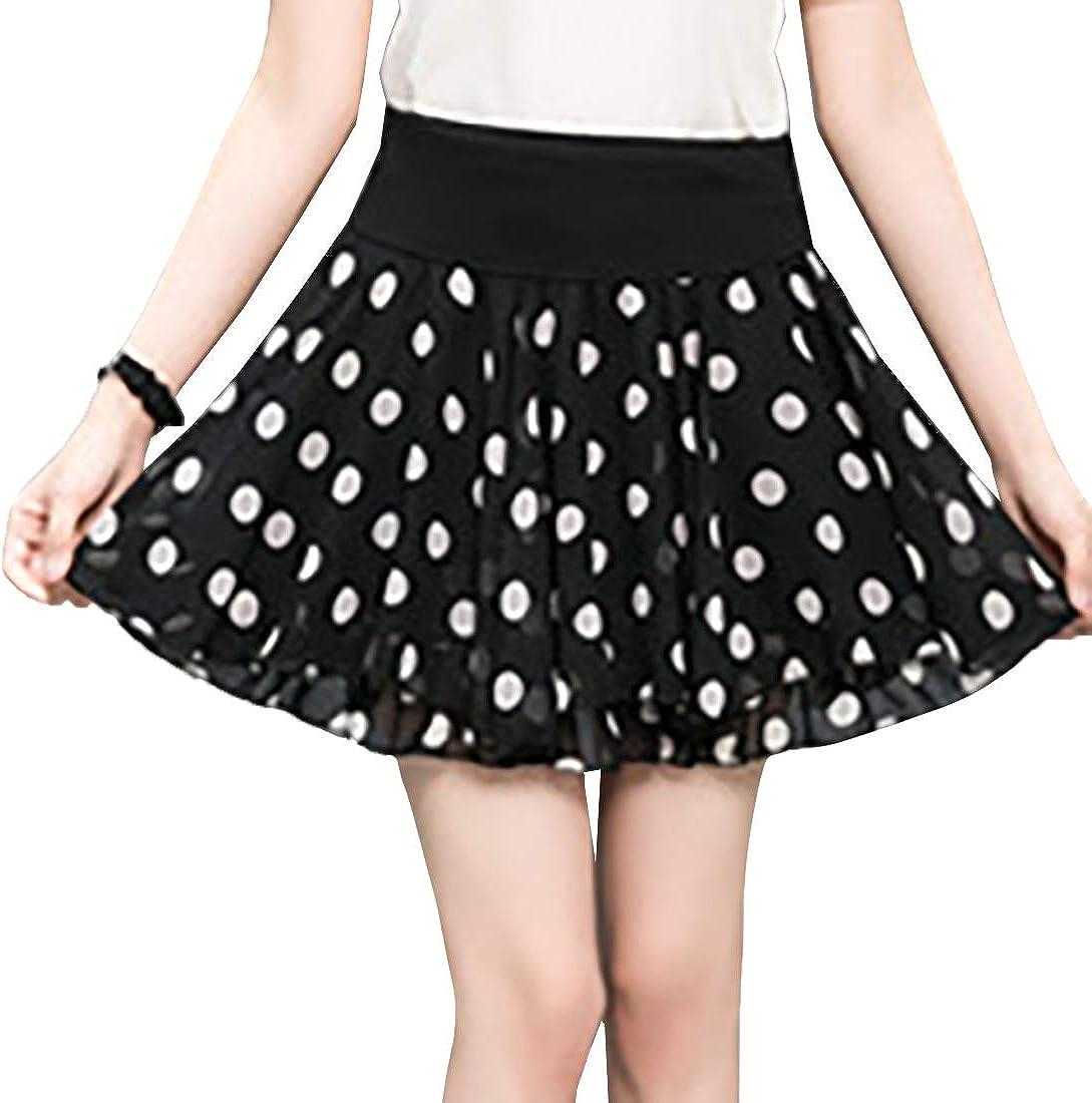 Huicai Womens Comfortable Soft Printing Skirt Casual Party Dance Skirt