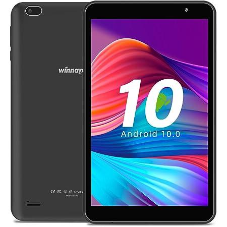 Tablet 8-Inch Android 10.0 - Winnovo M8 Quad Core Processor 32GB Storage HD IPS Display Gravity Sensor Bluetooth WiFi GPS FM (Black)