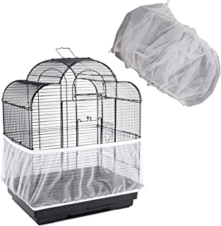 ZOCONE Bird Seed Guards & Catchers 100×13 Stretchy Adjustable Drawstring Bird Cage Mesh Net Cover Cage Skirt