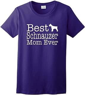 ThisWear Schnauzer Gifts Best Schnauzer Mom Ever Dog Gifts Ladies T-Shirt