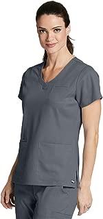 Grey's Anatomy 4-Pocket V-Neck Top for Women - Modern Fit Medical Scrub Top