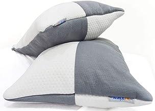 Wakefit 2-Piece Sleeping Pillow Set - 68.58 cm x 40.64 cm, White and Grey