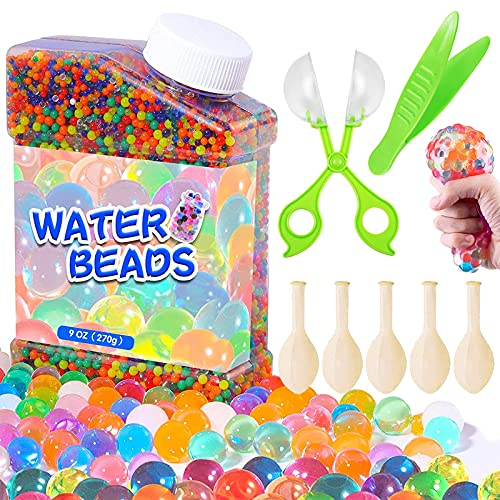 Nisso Wasserperlen 50000PCS Wasserkugeln Gel Perlen Aquaperlen 14 Farben Bunte Wachsen In Wasser für Vase Füllstoff Pflanzen, Blumen Dekoration Wiederverwendbar (Zubehör 1)