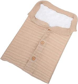 KINDOYO Infant Sleeping Bag - Outdoor Cute Knit Button Infant Stroller SleepingSacks 68CM/0.4kg,Beige