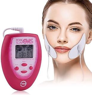 Masaje Facial Eléctrico Estimulación Muscular Electrónica Masajeador Facial Herramienta para Adelgazar 2 Uds Electrodos Pegatina para Cara 2 Pegatinas para Cara