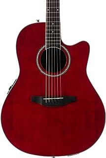 Ovation Applause Guitarra Electro-Acústica Mid Cutaway ruby red AB24II-RR