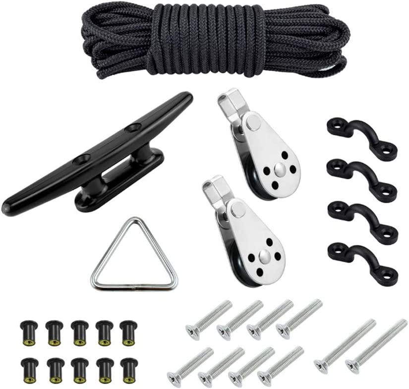 simhoa Kayak Canoe Anchor Trolley Bargain sale Kit Pully Boa Block Rope Safety and trust Cleat