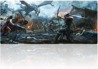 Bimor Extended Gaming Mouse Mat/Pad - Large, Wide (Long) Custom Professional Mousepad, Stitched Edges, Ideal for Desk Cove...