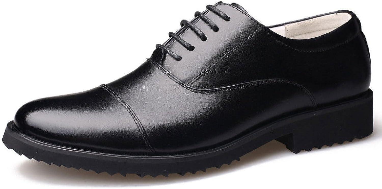 Men's shoes Officer shoes Men's Round Lace Dress Casual shoes
