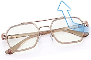 Kalevel Blue Light Filter Glasses for Men Women Blue Light Cut Zero Power Stylish Transparent Latest for Laptop Mobile Com...