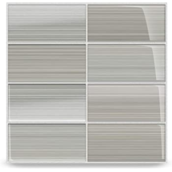 Classic Hand Painted Series Gainsboro Gray Glass Subway Tile Gainsboro For Kitchen Backsplash Or Bathroom Color Sample Amazon Com,White Kitchen Cabinets With Carrara Marble Countertops