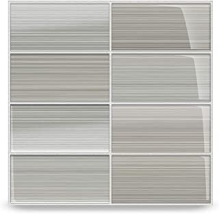 Gray Glass Subway Tile Gainsboro for Kitchen Backsplash or Bathroom from Bodesi, Color Sample