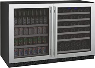 Allavino 3Z-VSWB24-2SS Flex Count Series Side-by-Side Wine Refrigerator and Beverage Center Stainless Steel