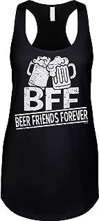 Blittzen Womens Racerback Tank Beer Friends Forever