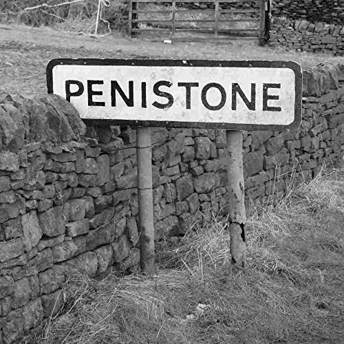 Lesser Spotted Britain Penistone Road Sign Tarjeta de felicitación