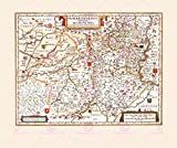 MAP Antique 1645 BLAEU Paderborn Episcopacy Large Replica