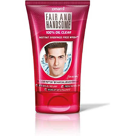 Emami Fair and Handsome 100% Oil Clear Instant Radiance Face Wash, 100g