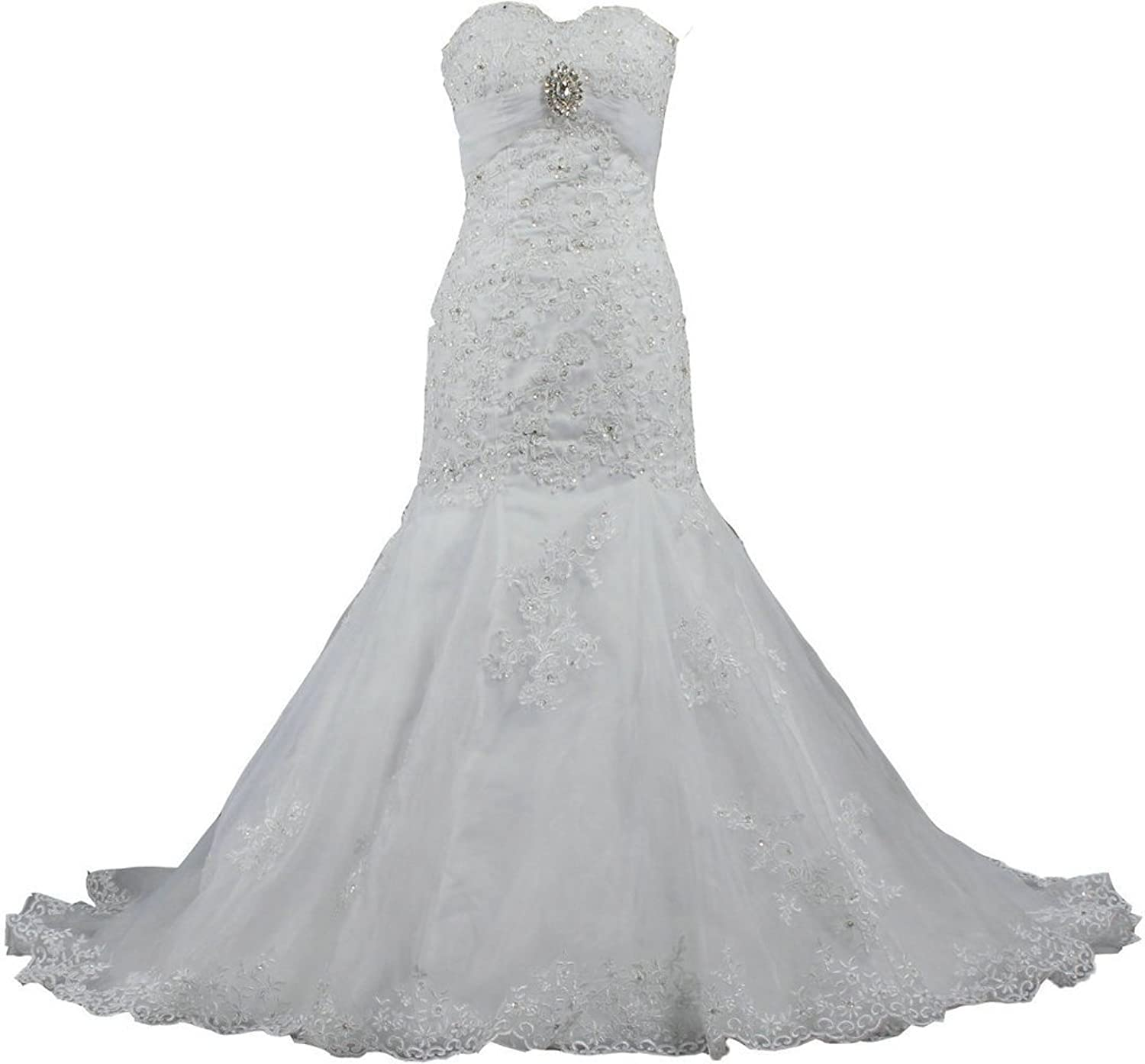 ANTS Sweetheart Mermaid Wedding Bridal Dresses Lace and Tulle