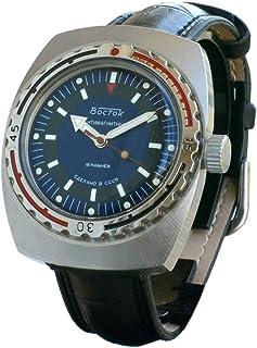 Vostok Amphibian Montre automatique pour homme avec remontage automatique pour plongeurs militaires Amphibia Case #420059
