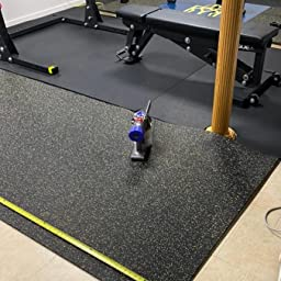 Thick Solid Black 4 x 9 Heavy Duty Rubber Rolls Home Gym Rubber Flooring 9mm American Floor Mats 3//8in Protective Exercise Mats