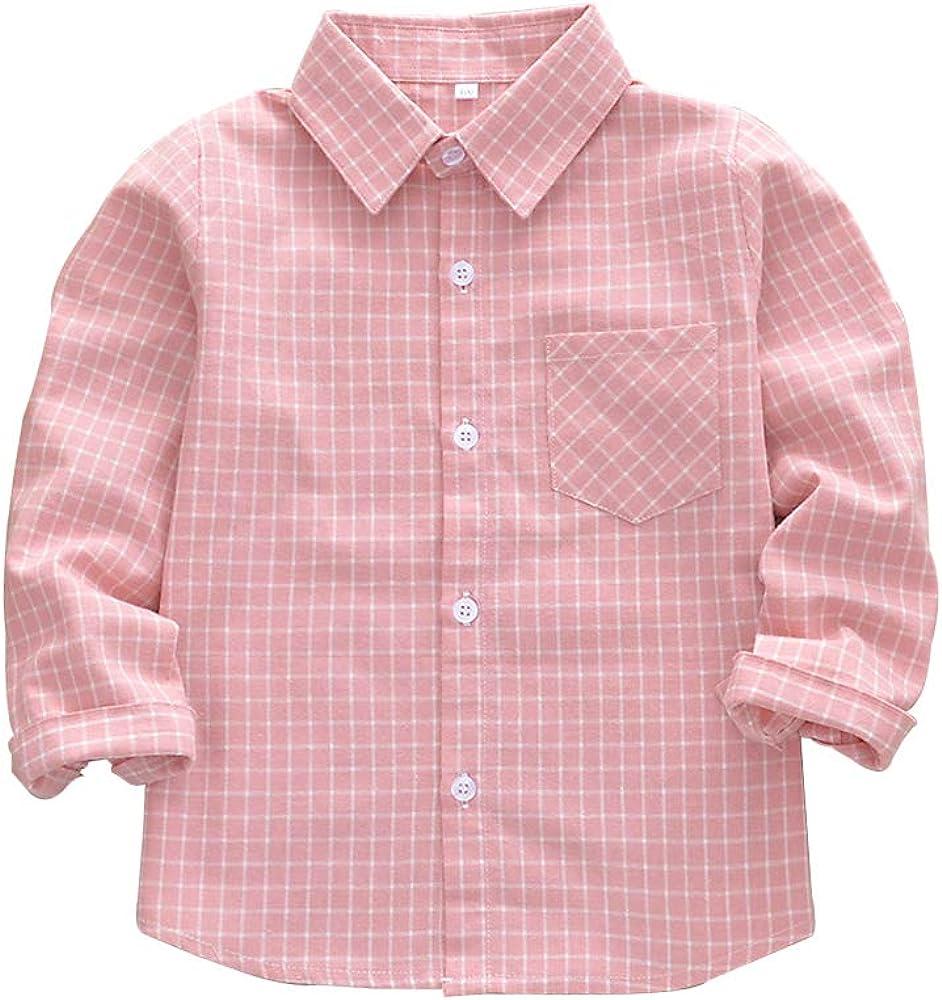 Girls Flannel Shirts Long Sleeve Button Down Shirt Kids Western Shirts Christmas Toddler Buffalo Plaid Shirts