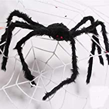 KECHIO 50 in Outdoor Halloween Giant Spider Decorations Decor Haunted House Prop Scary Toy for Party Outdoor Yard Decoration