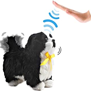 deAO Interactive Electronic Pet Dog Toy with Barking, Walking, Tail Wagging, Touch Recognition and Music Functions for Chi...