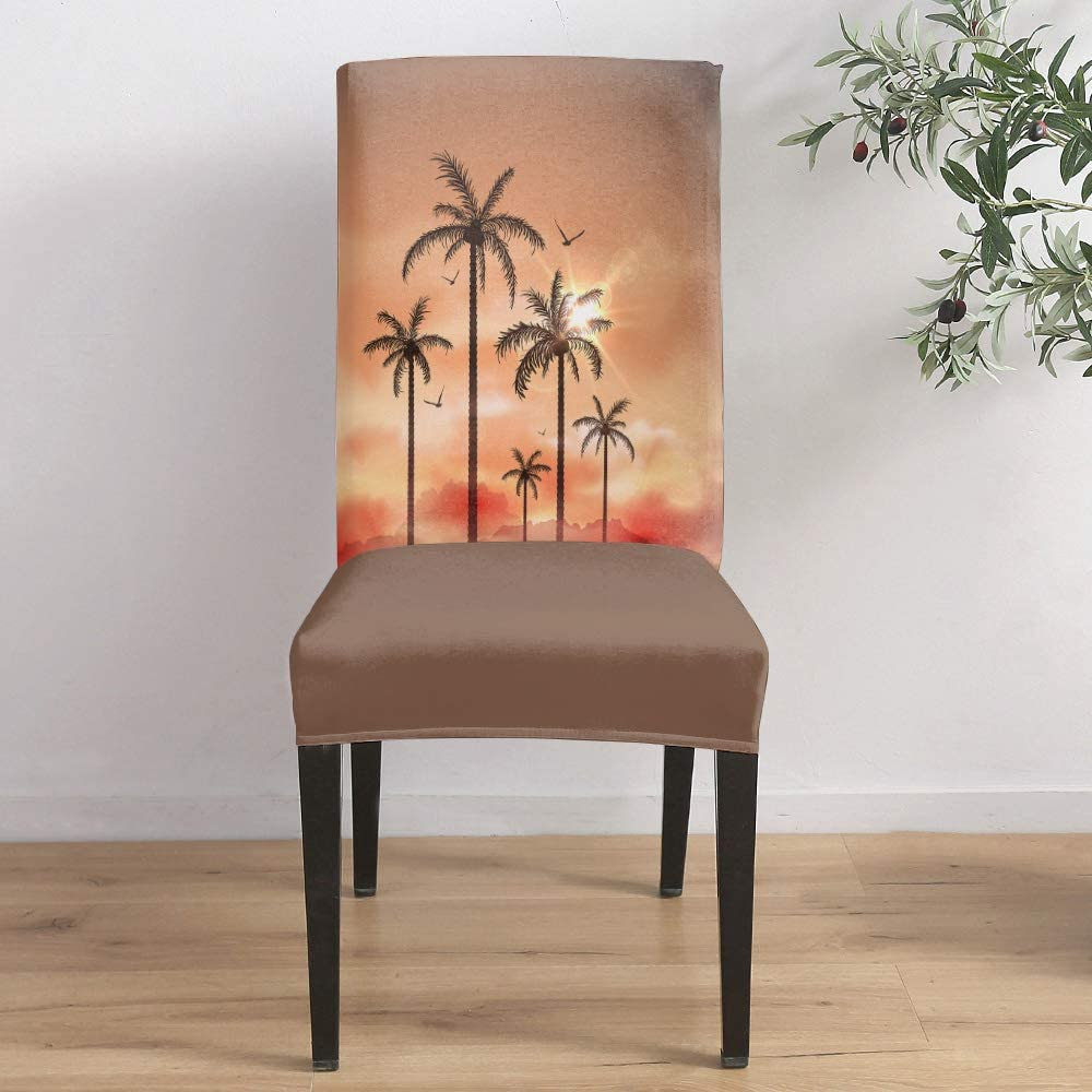 Manufacturer OFFicial shop Dining Overseas parallel import regular item Room Stretch Chair Cover Landscape of Slipcover Beautiful