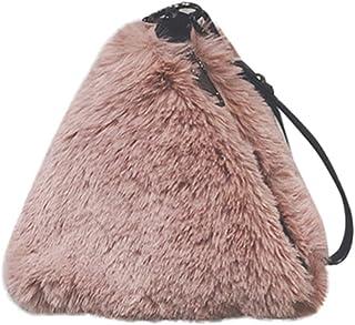 Wultia - Bags for Women Fashion Plush Handbag Chain Bag Shoulder Bag Messenger Bag Evening Package Bolsa Feminina Pink