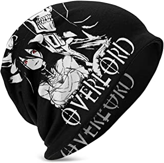 Overlord Kids Skull Cap Beanie Caps Verano Invierno Sombrero de Punto Fino Sombrero de Hip Hop para jóvenes Negro