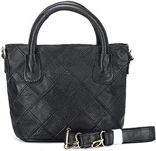 Fine Bag/Womens Multi-Color Shoulder Bag Handbag Fashion Stitching Crossbody Bag Purse Multi-Pocket Capacity (Color : Black, Size : One Size)